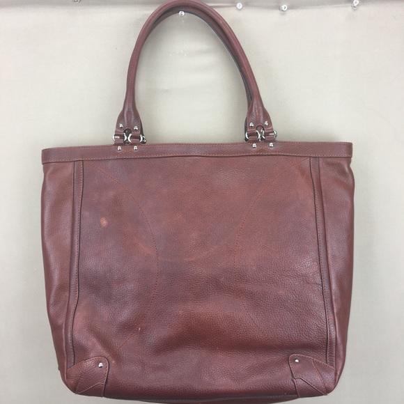 Cole Haan Handbags - Cole Haan Brown Pebbled Leather Shoulder Tote Bag